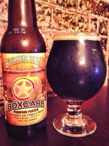 Starr Hill Brewery Boxcarr Pumpkin 2014