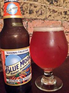 Blue Moon Brewing Company Harvest Pumpkin 2014